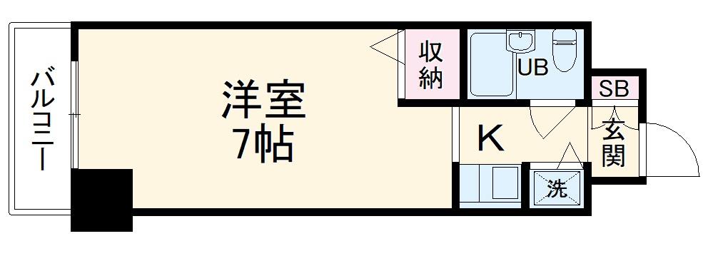 ジョイフル川崎弐番館・1005号室の間取り