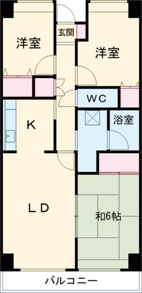 東雪谷マンション・104号室の間取り