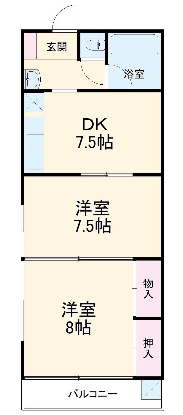 サンクススタジオ鉾田・103号室の間取り