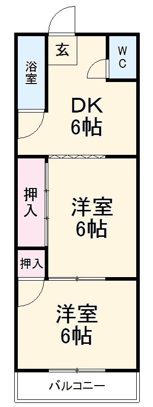 堀田ビル・302号室の間取り