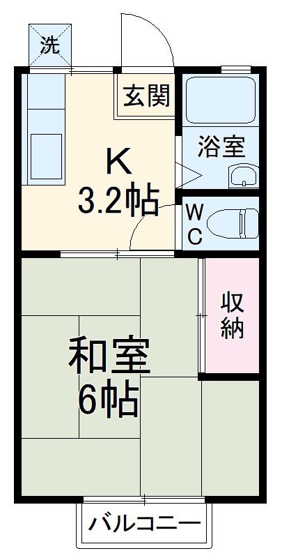 sei-bosco1129A・203号室の間取り