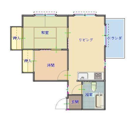 ZEN HOUSEⅠ・102号室の間取り