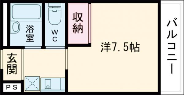 エルエルシーSUN・203号室の間取り