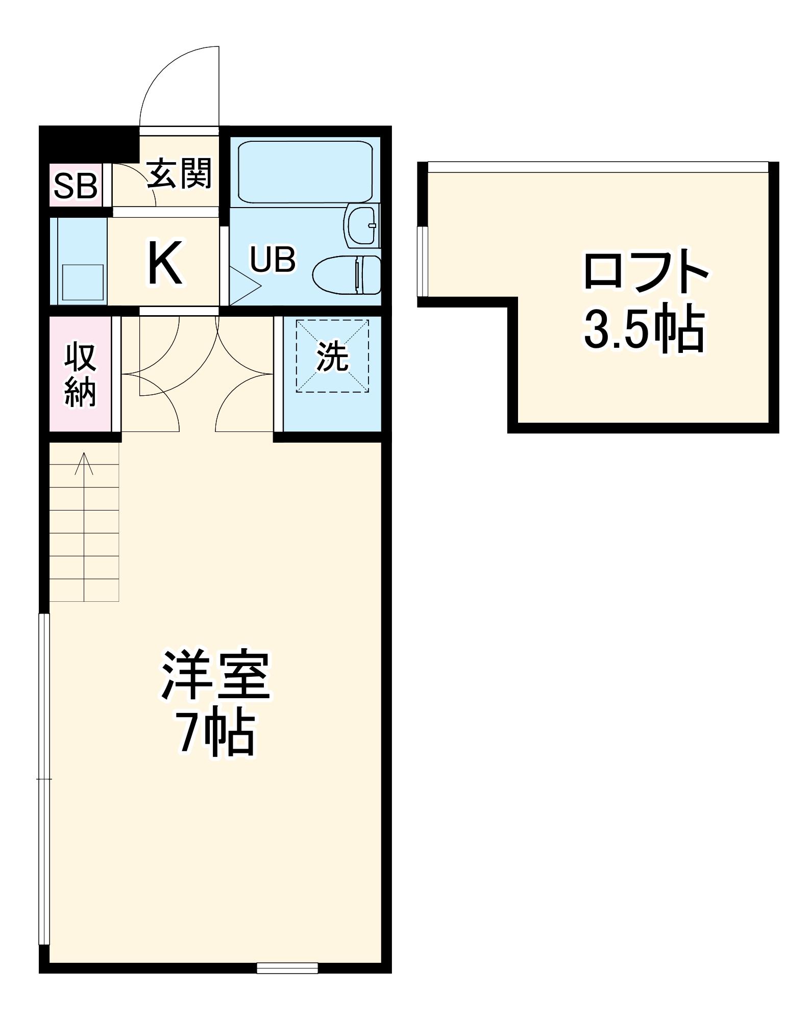 フジパレス行田壱番館・206号室の間取り