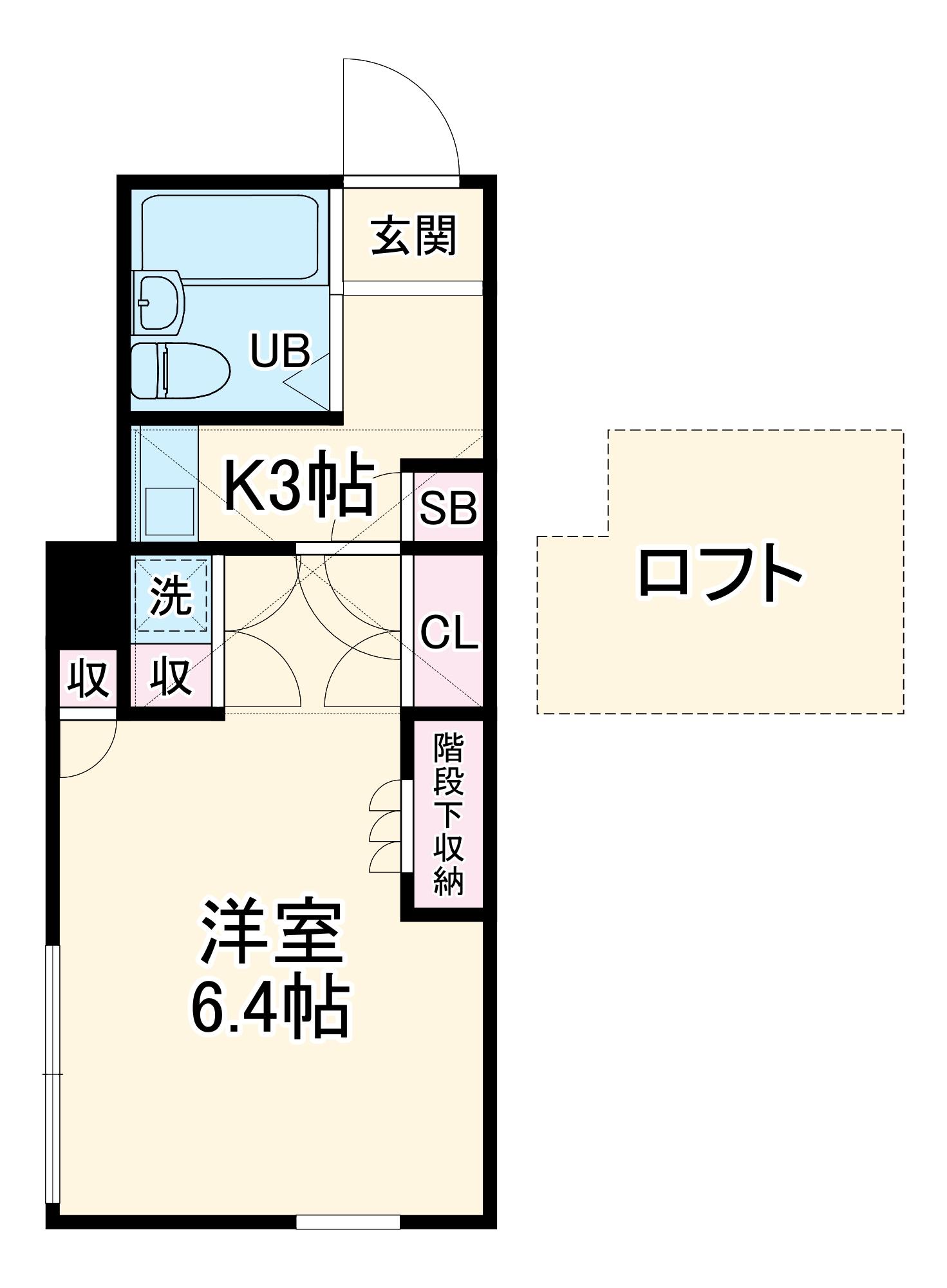 フジパレス行田壱番館・102号室の間取り