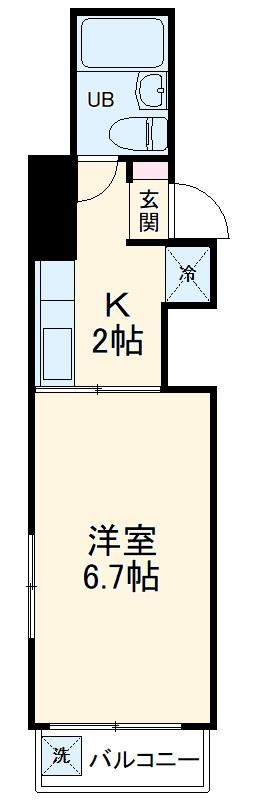 浅田屋ビル・3B号室の間取り
