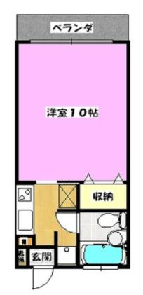 シティコーポCHURA・404号室の間取り