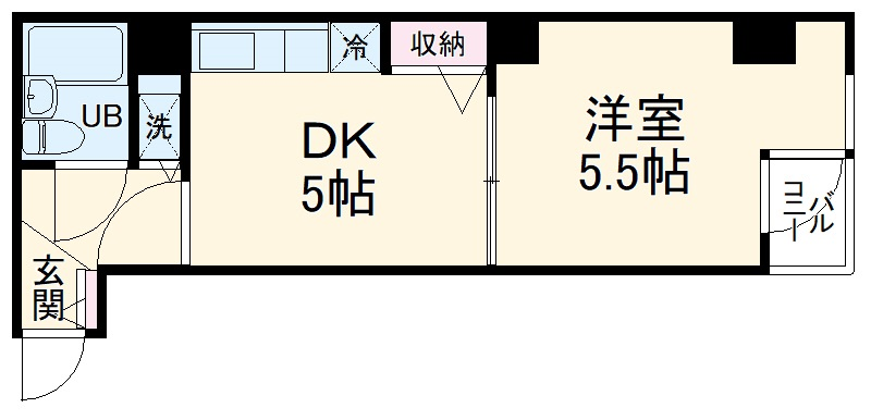 プランタン横浜・308号室の間取り