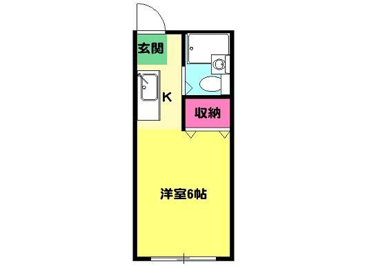 ベルシェ22・205号室の間取り