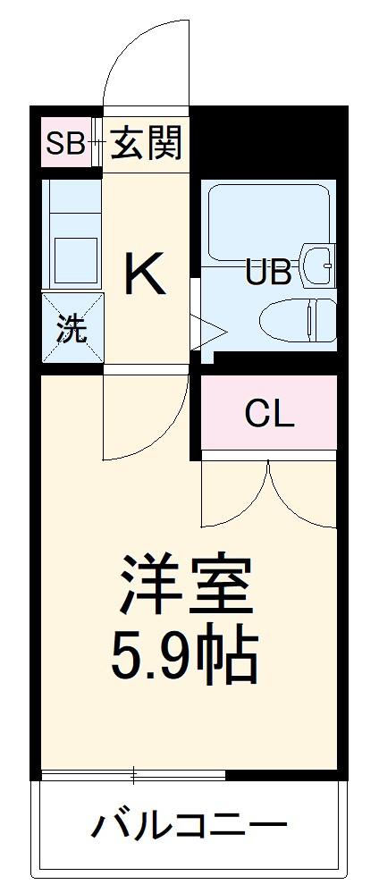 E-STORY黒川 305号室の間取り