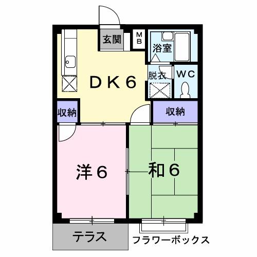 エルディム吉澤・01030号室の間取り
