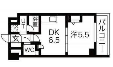 エムエー大口マンション・203号室の間取り