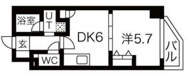 エムエー大口マンション・307号室の間取り