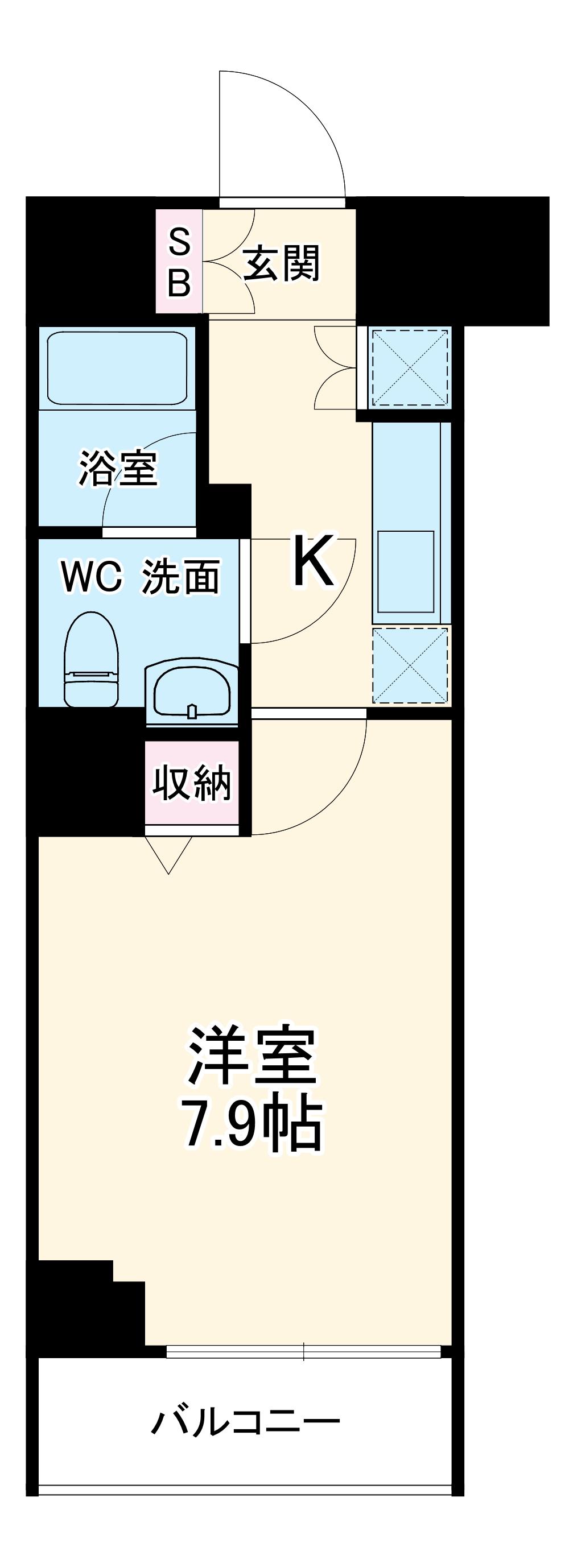 スクエアシティ横浜新子安・901号室の間取り