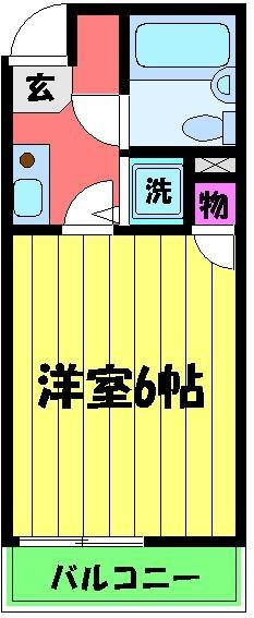 シャルマンフジ 久米田五番館・203号室の間取り