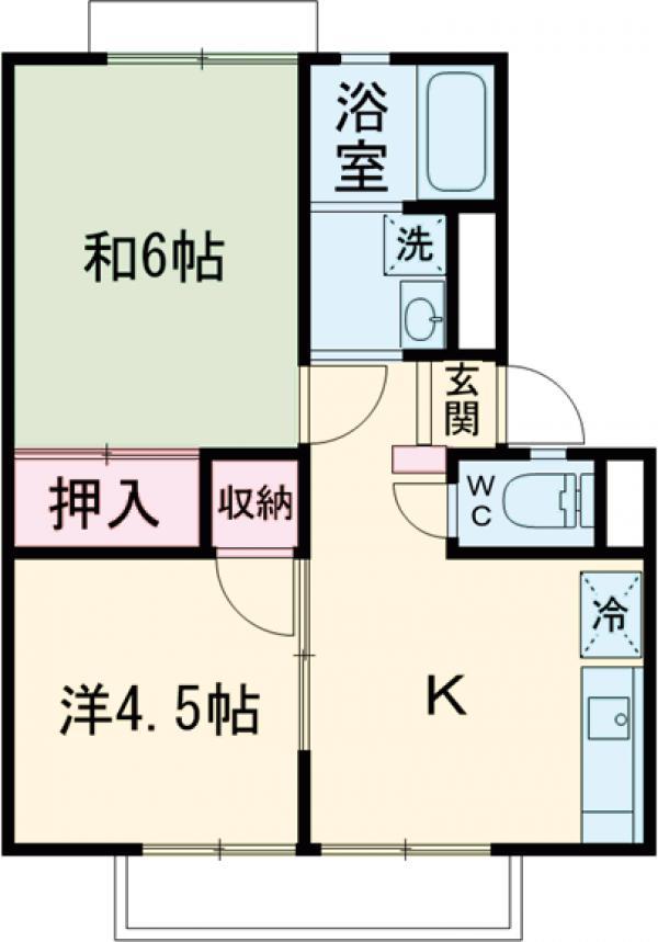 アーバン成城・105号室の間取り
