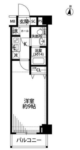 プレール・ドゥーク羽田WESTⅡ・203号室の間取り