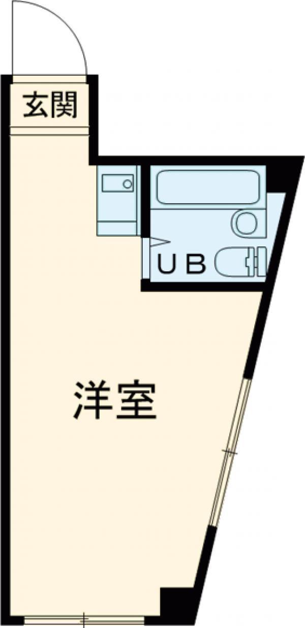 ジュネス北新宿・107号室の間取り