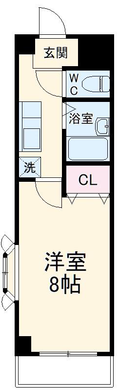 ラファール苗田 303号室の間取り