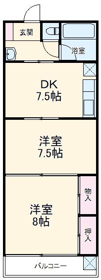 サンクススタジオ鉾田・105号室の間取り