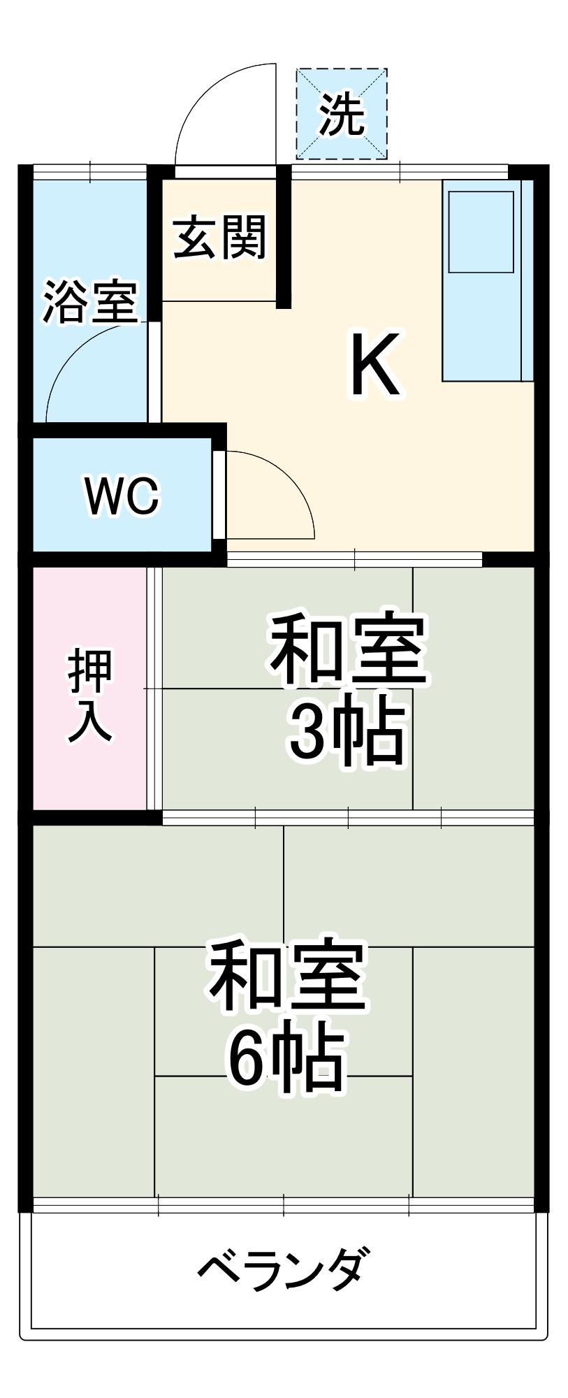 桜荘・6号室の間取り