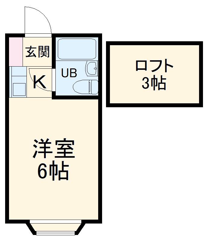 パンシオン新川崎№1・205号室の間取り