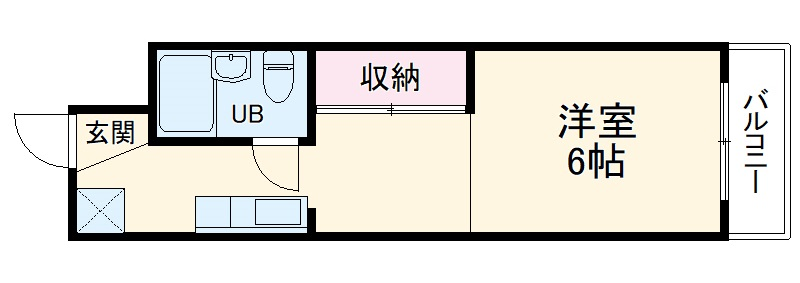 守山アートハイツ 2D号室の間取り