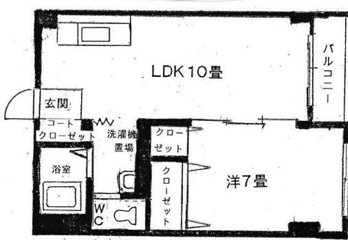 第一昼川ビル・502号室の間取り