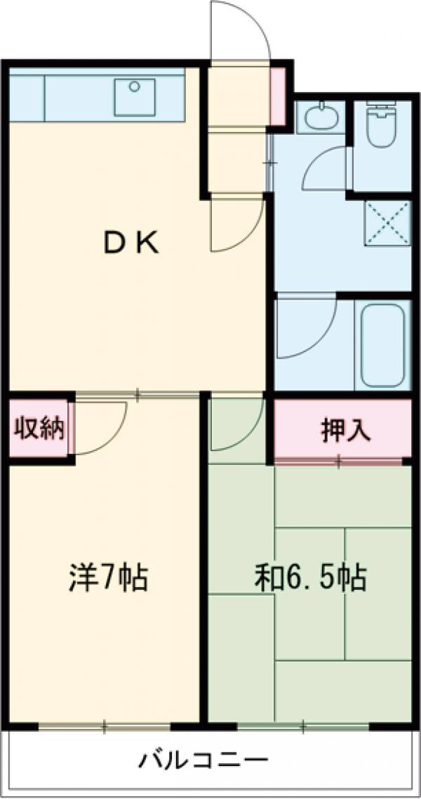 岩井マンション・208号室の間取り