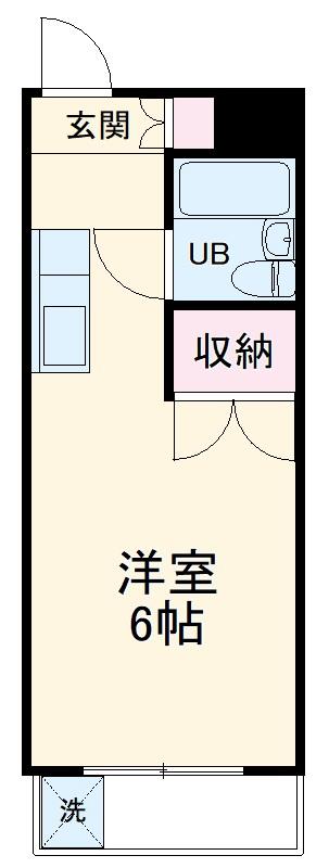 リスタ所沢・00308号室の間取り