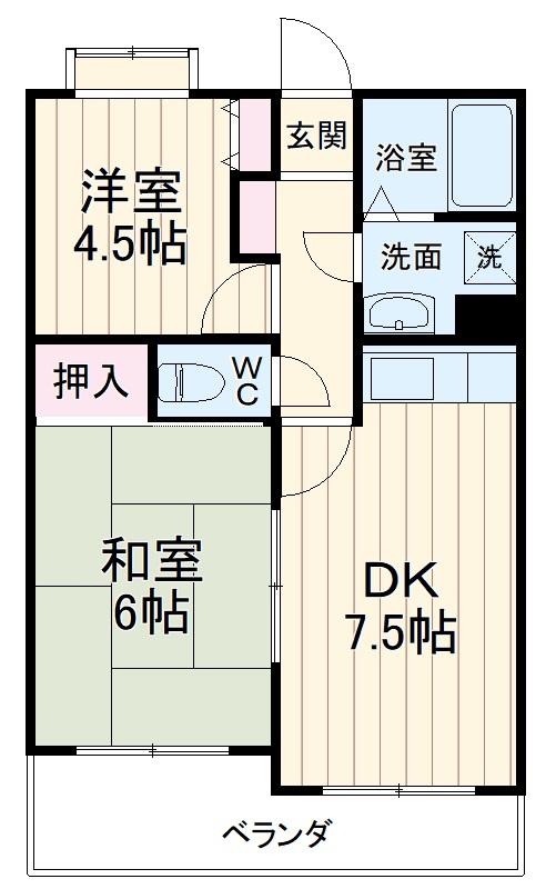 フェリックス新川崎・102号室の間取り