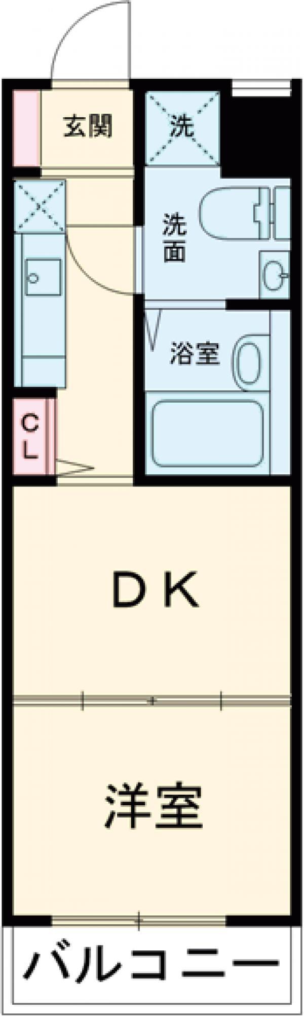 コルティーレ上北沢・307号室の間取り