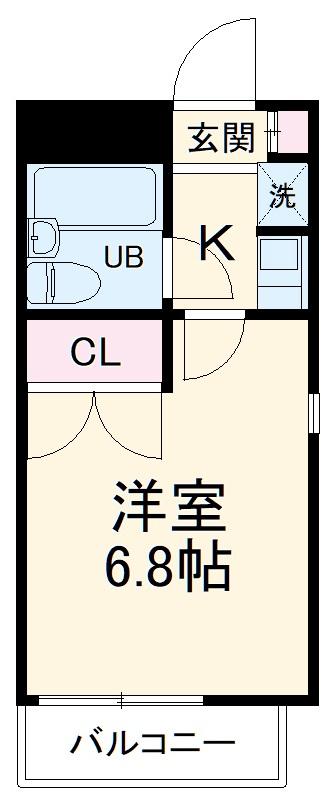 E-STORY新守山 102号室の間取り