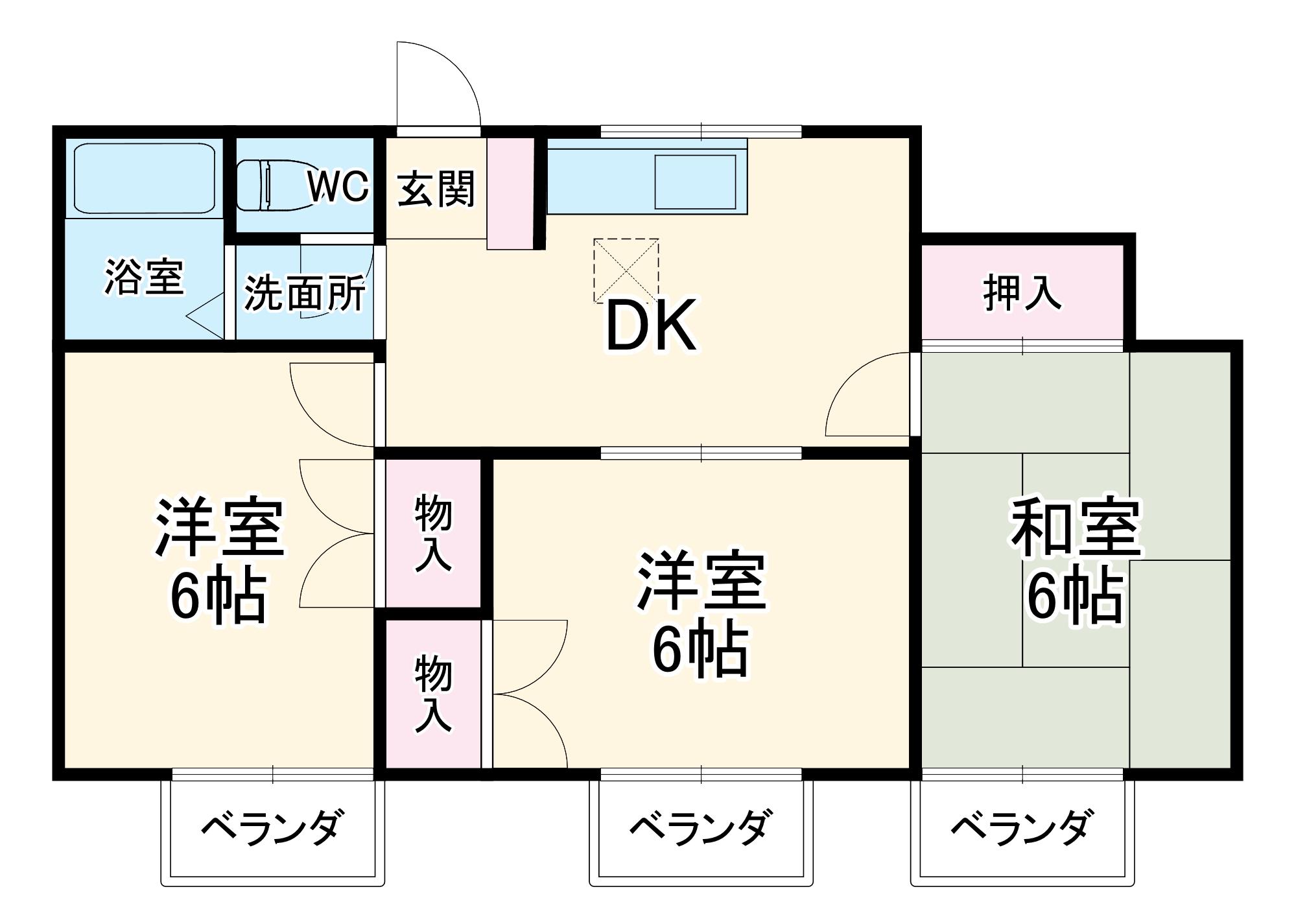 獺郷ドミール21・202号室の間取り