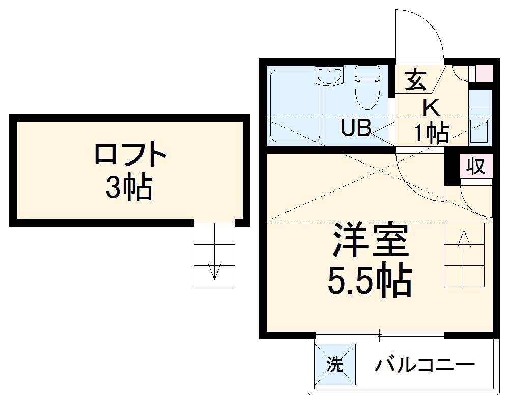 Aria横浜・203号室の間取り
