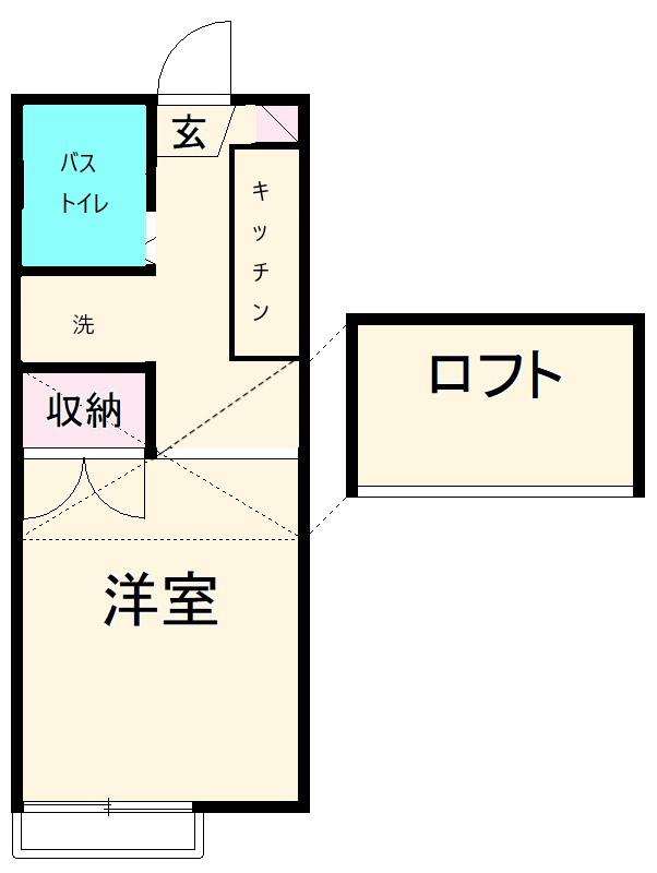 浜岡ハイツB・102号室の間取り