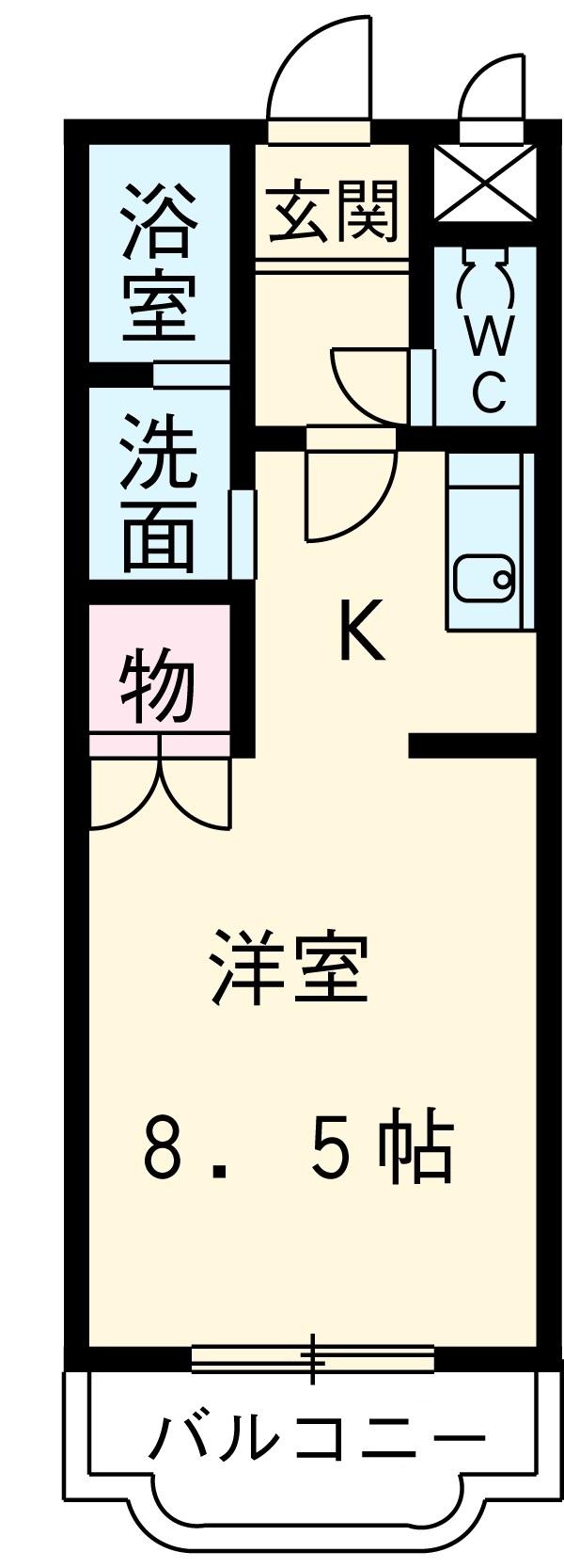 辻マンションB棟・3B号室の間取り