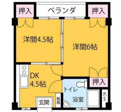 タカダ泊マンション・305号室の間取り
