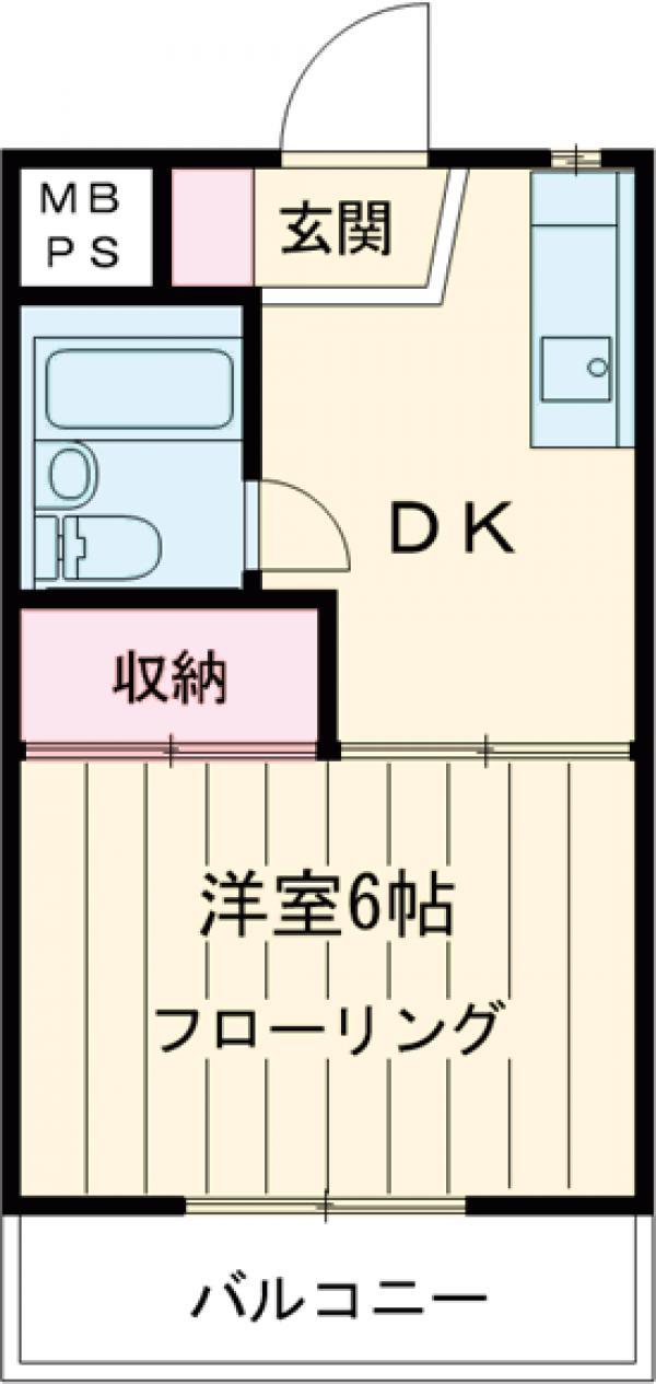 メゾン・バン・ベール・105号室の間取り