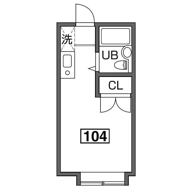 カノーブルA・104号室の間取り