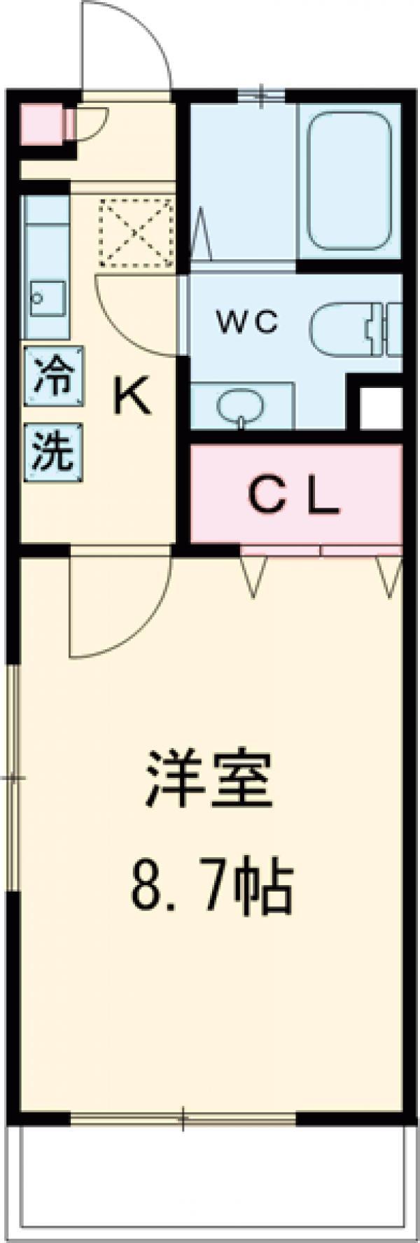 サァラ多摩平・306号室の間取り
