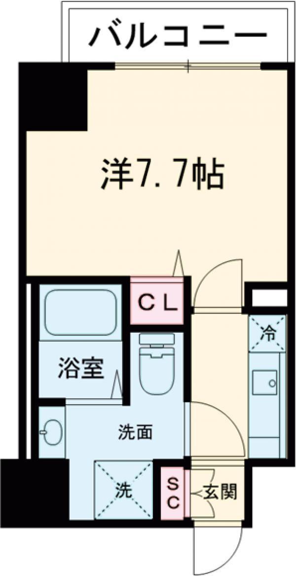 IL MEZZO DI TOKYO , UNO・1003号室の間取り