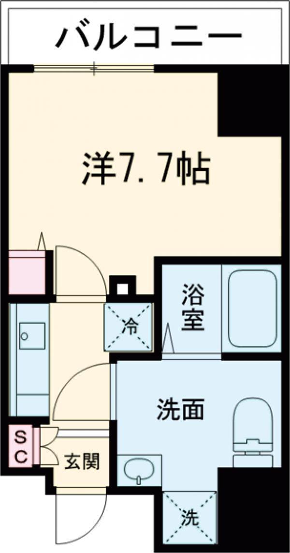 IL MEZZO DI TOKYO , UNO・904号室の間取り