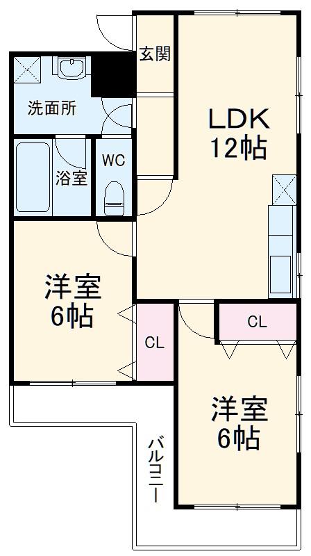 第二セーフズマンション・301号室の間取り
