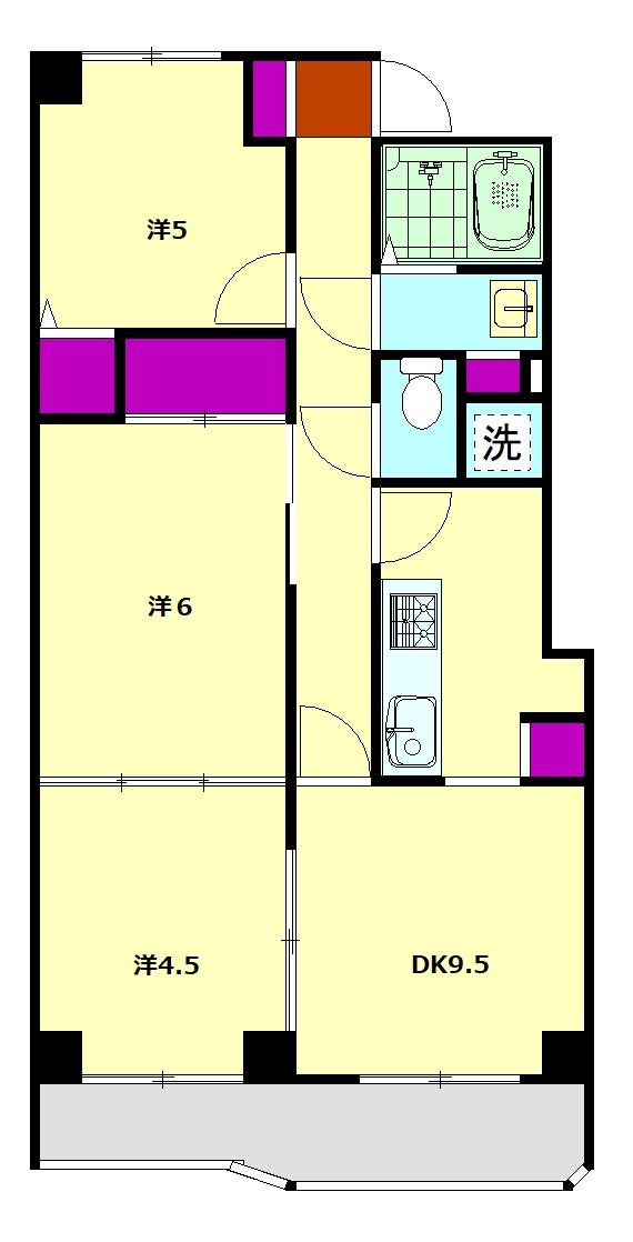 内藤マンションA・205号室の間取り