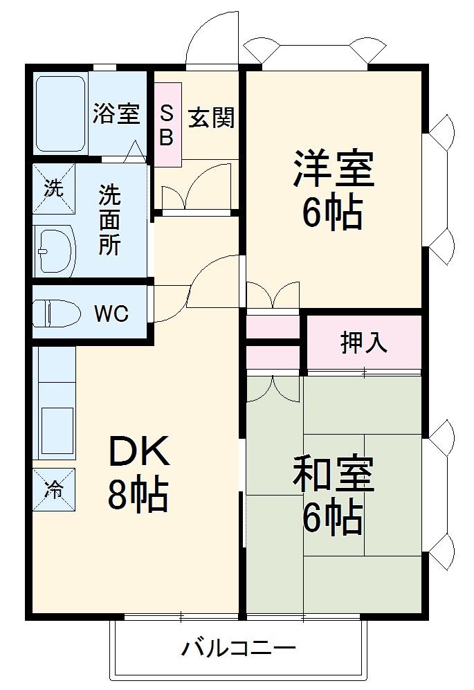 コーポアキヤマ・205号室の間取り