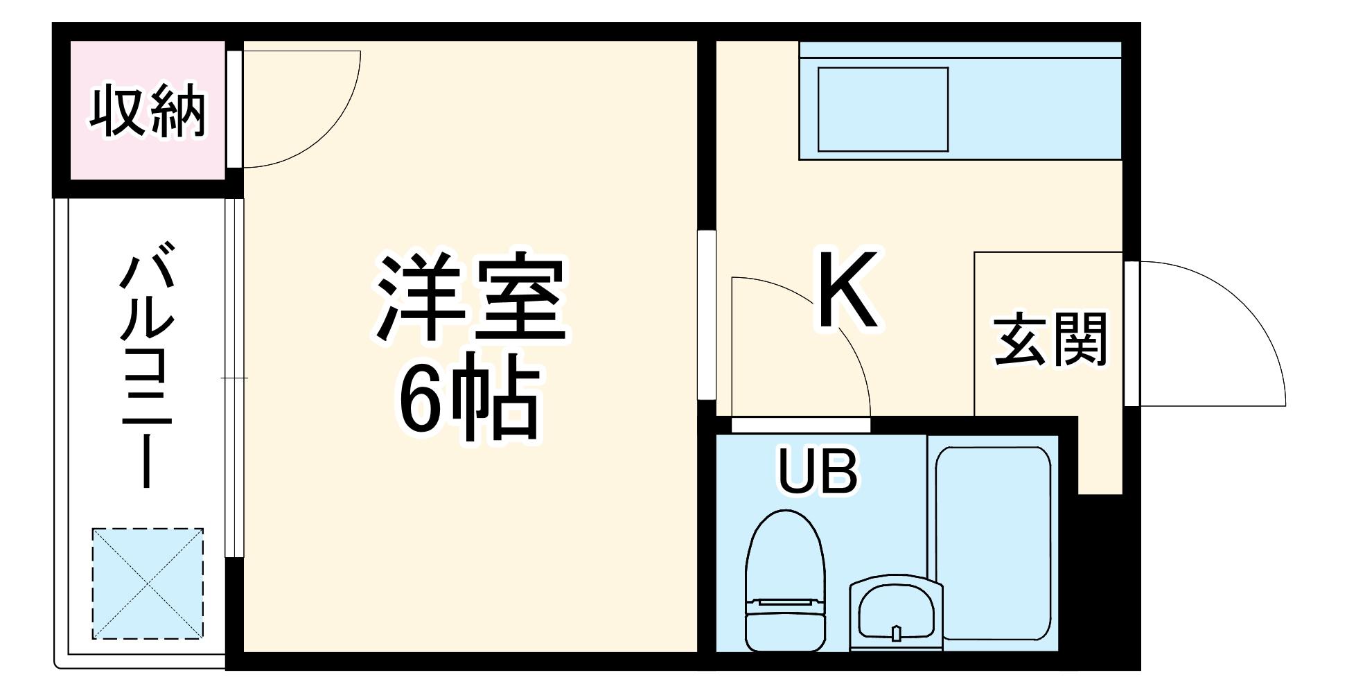 アシスト第3岐阜マンション・308号室の間取り