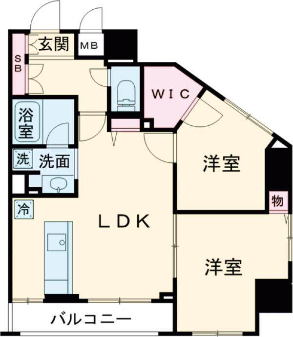 LUMIEC FURUKAWAGARDEN・1203号室の間取り