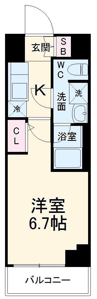 ARCOBALENO MUSASHIKOSUGI・203号室の間取り