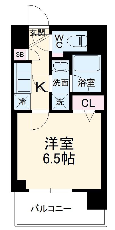 ARCOBALENO MUSASHIKOSUGI・409号室の間取り